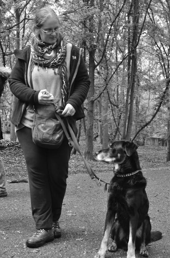 Audrey et son chien koda