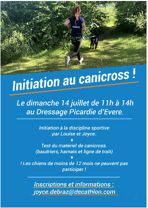 Photos présentation canicross par décathlon